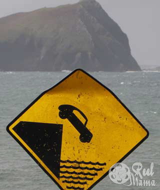 Wordless Wednesday: Warning sign for bad drivers on the Dingle Peninsula, Ireland