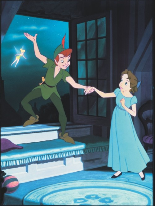 Peter Pan and Wendy Photo, Wendy, Peter Pan, Disney's Peter Pan, Peter Pan Blu-Ray, Peter Pan Sixtieth Anniversary, Peter Pan Blu-Ray Diamond Edition release, J.M. Barrie, JM Barrie, Neverland, Tinkerbell, Captain Hook, Peter Pan's World, Pirates and Mermaids, Walt Disney, Walt Disney Studios, Classic Disney Films, Peter Pan Release, Peter Pan Restoration, Peter Pan Blu-Ray Combo Pack, Peter Pan Clips, Peter Pan Photos, Making of Peter Pan, Growing up with Nine Old Men, Peter Pan Classic,