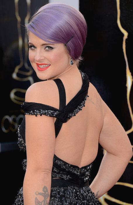 Kelly Osbourne Oscars 2013, Kelly Osbourne fashion, Kelly Osbourne purple hair