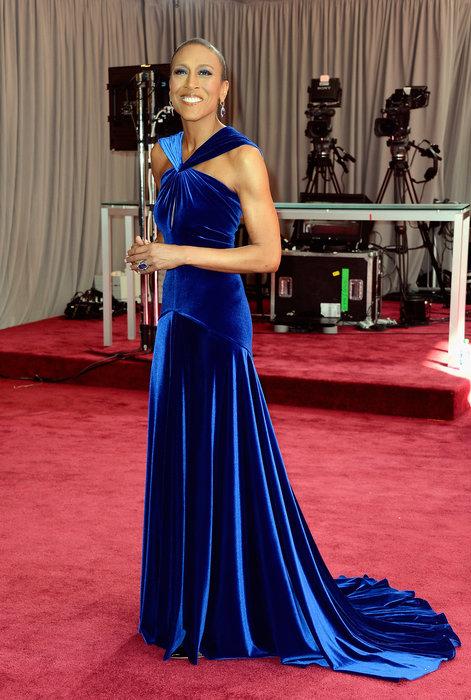Robin Roberts Oscars 2013, Robin Roberts red carpet, Robin Roberts ABC