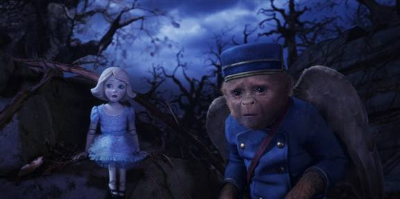 China Girl and Finley in OZ THE GREAT AND POWERFUL, OZ THE GREAT AND POWERFUL Joey King and Zach Braff interview, China Girl, Finley, Zach Braff as Finley, Joey King as China Girl