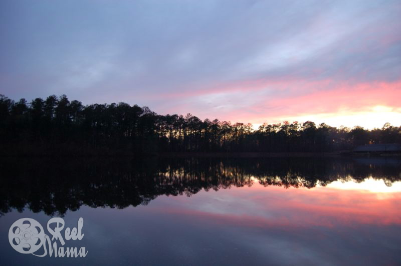 Clarkco State Park Lake at sunset: Wordless Wednesday #WW