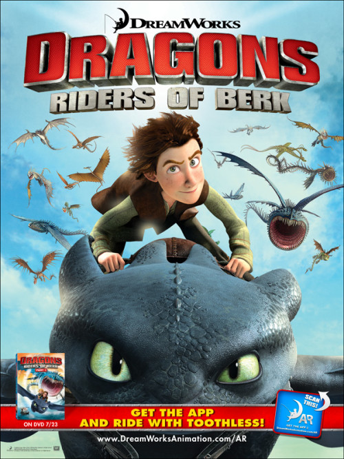 Dreamworks Dragons Riders of Berk augmented reality poster can be enhanced with the new Dreamworks Animation Augmented Reality app.