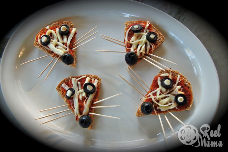 Fun finger food for kids ~ Ratatouille pizza rats and activity sheet