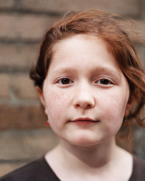 Emma Kenney at nine, when she directed her short The New Girl in Town