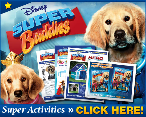 Super Buddies downloadable activity sheets and dog training tips
