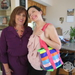 Amparo and Lauren with Maggie Bag