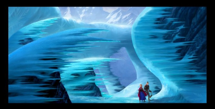 Disney Frozen landscape set in Norway