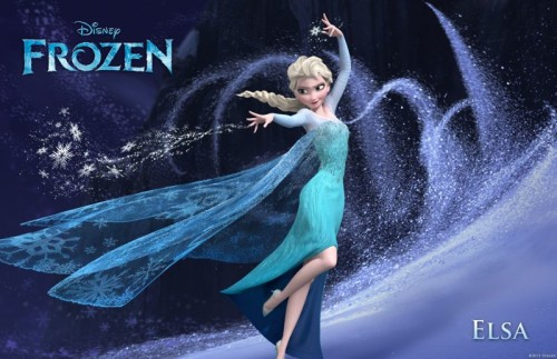Princess Elsa (the voice of Idina Menzel) in Disney Frozen