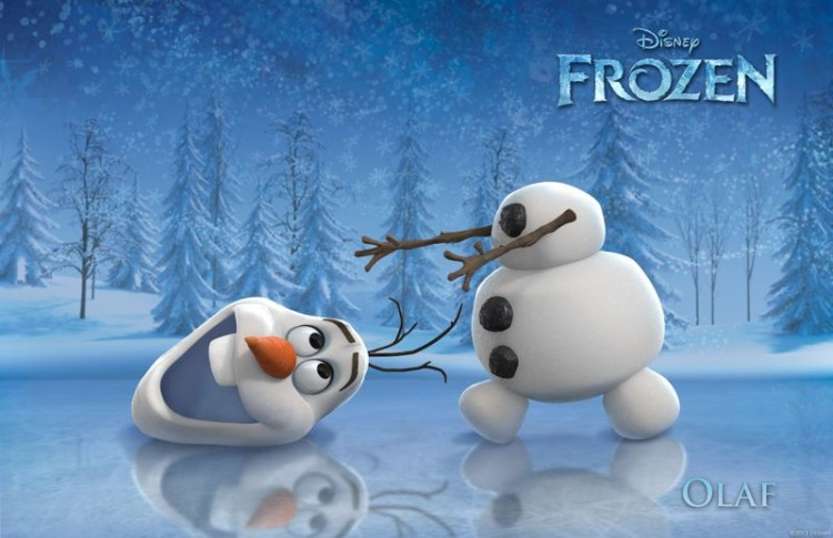 Olaf the snowman from Disney Frozen. Of the Frozen baby names, Olaf is the least popular. Poor Olaf!