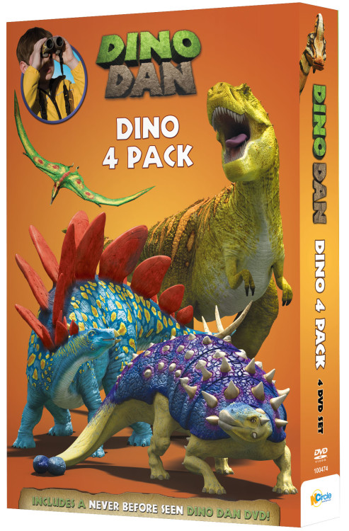 The Nick Junior kids TV show Dino Dan is now available in a DVD 4 pack. The show encourages kids to use their imaginations to make learning a fun adventure and introduces fun facts about dinosaurs. The show is geared for young children ages 2 to 6.