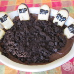 Edible chocolate graveyard pudding dessert--just add the bones!
