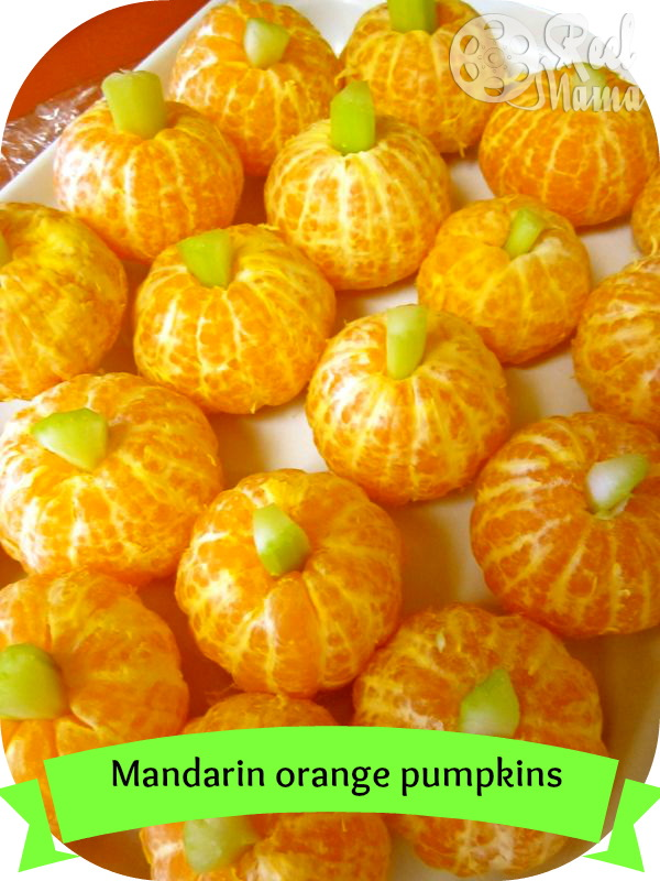 Mandarin orange pumpkins ~ a healthy snack for kids