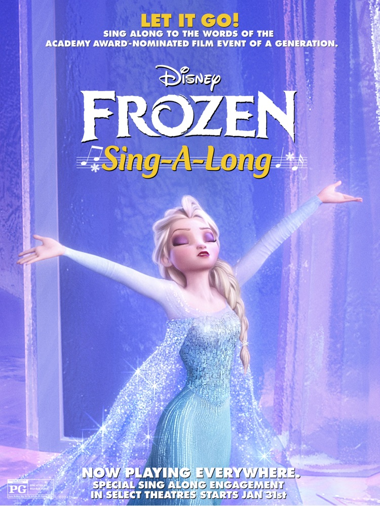 Disney Frozen sing along version hitting theaters on January 31, 2014!
