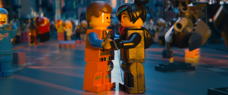 Wildstyle (the voice of Elizabeth Banks) and Emmet (the voice of Chris Pratt) in a scene that made my friend cry in the Lego movie. Photo: Warner Bros. Pictures