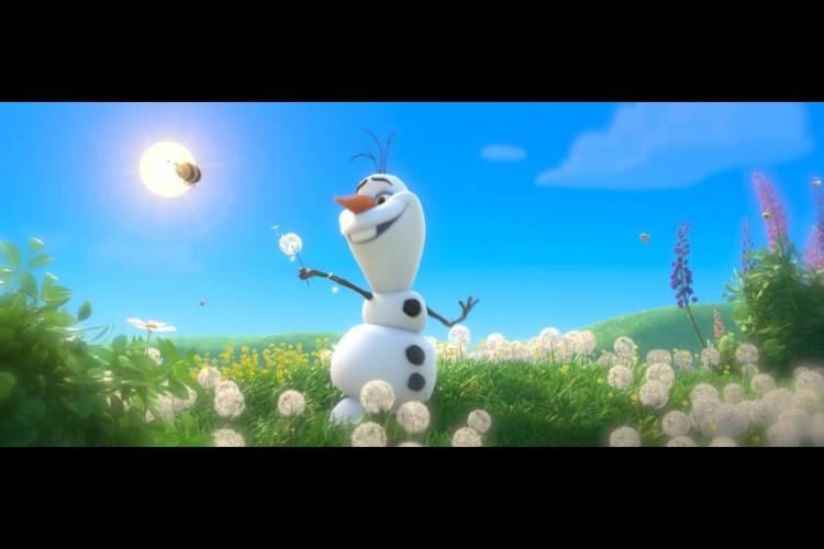Olaf in Summer in Disney Frozen