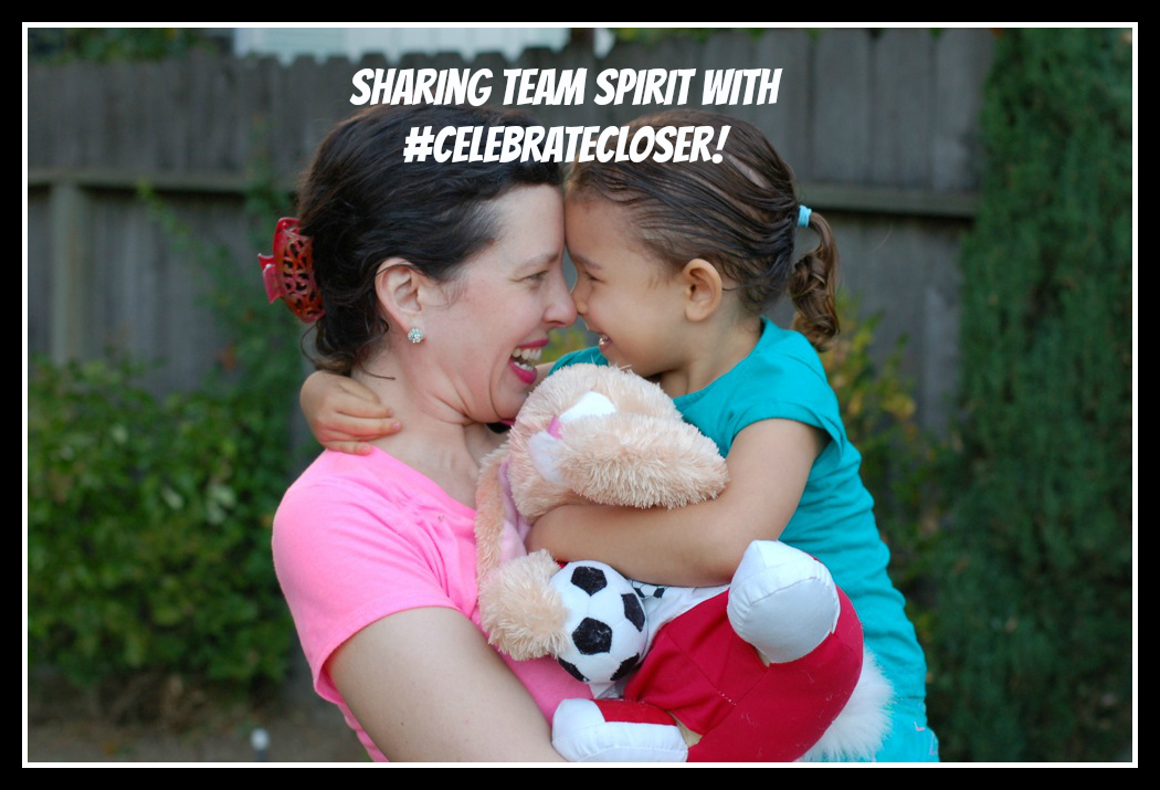 Mother daughter bonding over soccer? It happened to us! #CelebrateCloser
