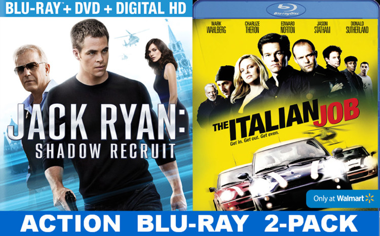 Jack Ryan and The Italian Job are available as a 2 pack exclusively at Walmart. #JackRyanBluRay #CollectiveBias #shop #cbias