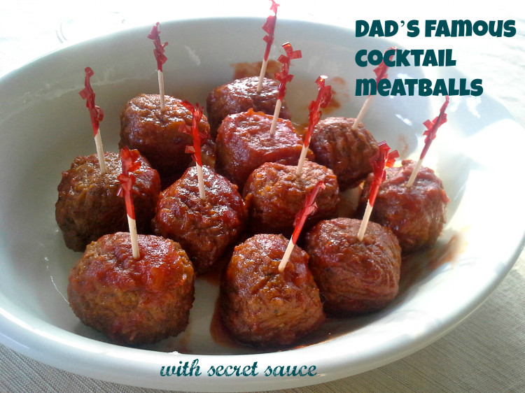 Dad's famous cocktail meatballs with secret sauce #JackRyanBluRay #CollectiveBias #shop #cbias