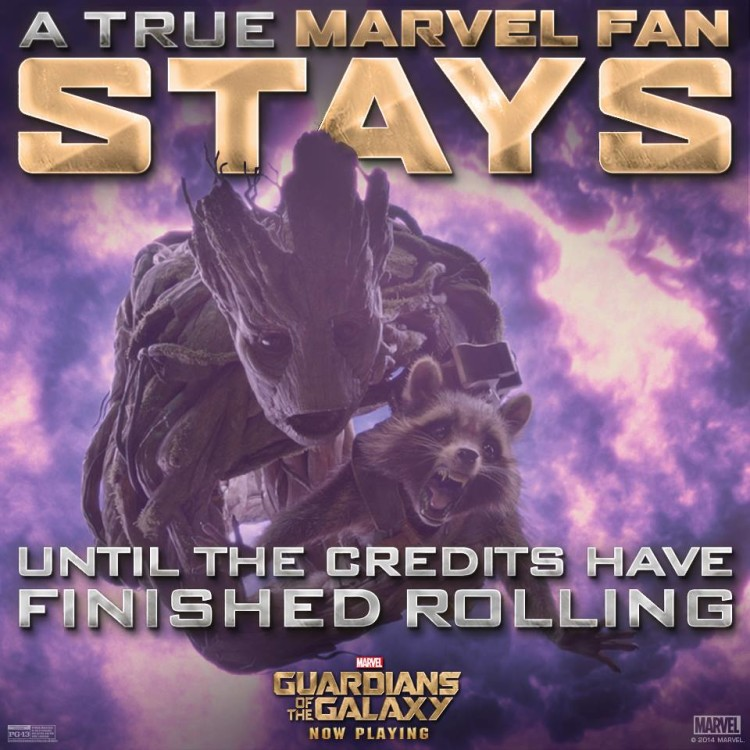 Guardians of the Galaxy Stay After the Credits