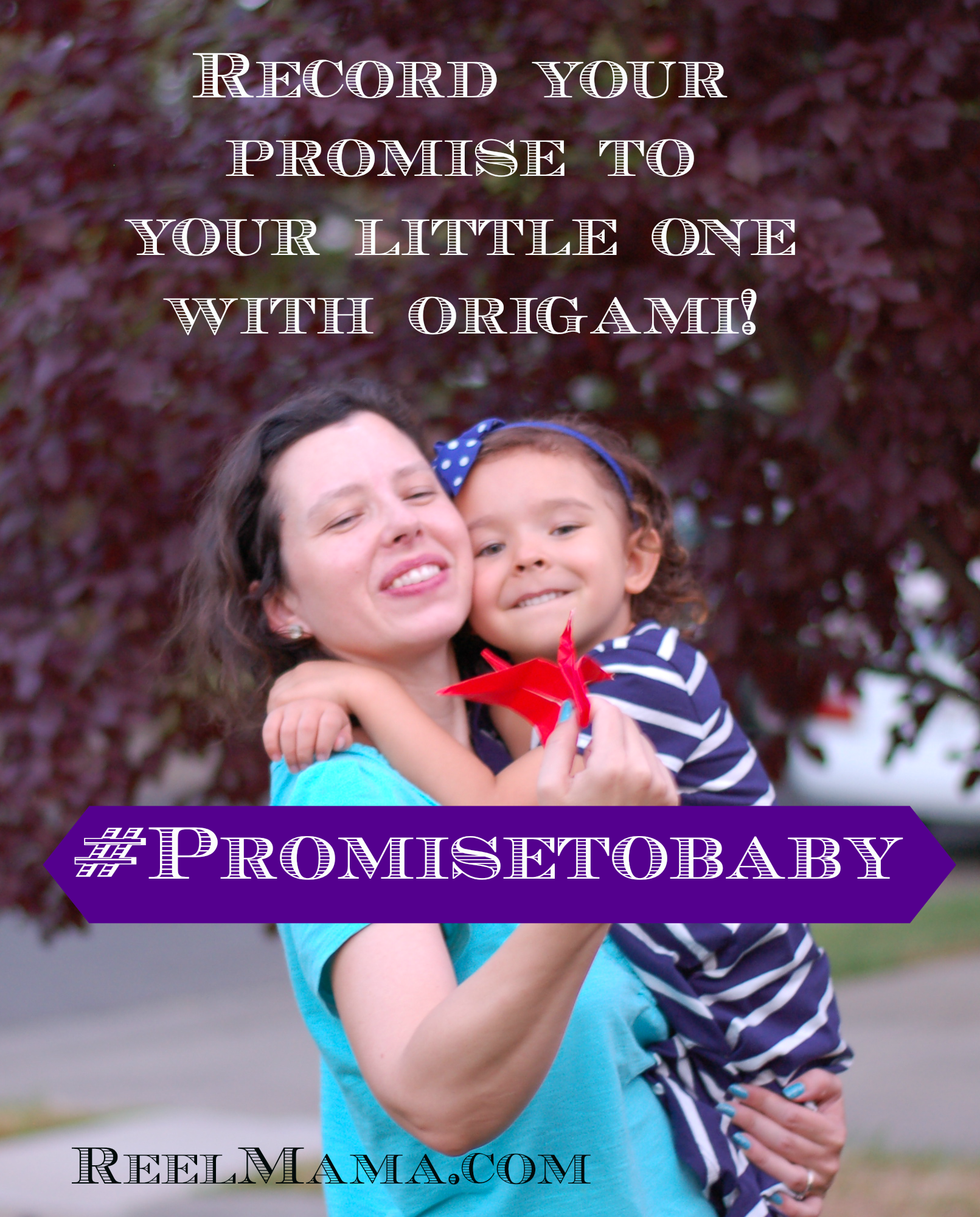 Origami keepsake and letter to my daughter with my promise to her #PromiseToBaby