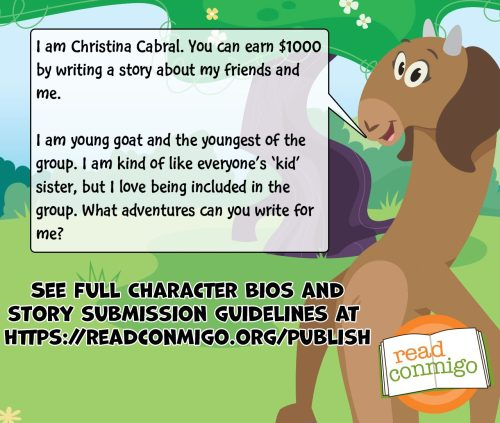 Read Conmigo Contest for Latino author of books for bilingual children