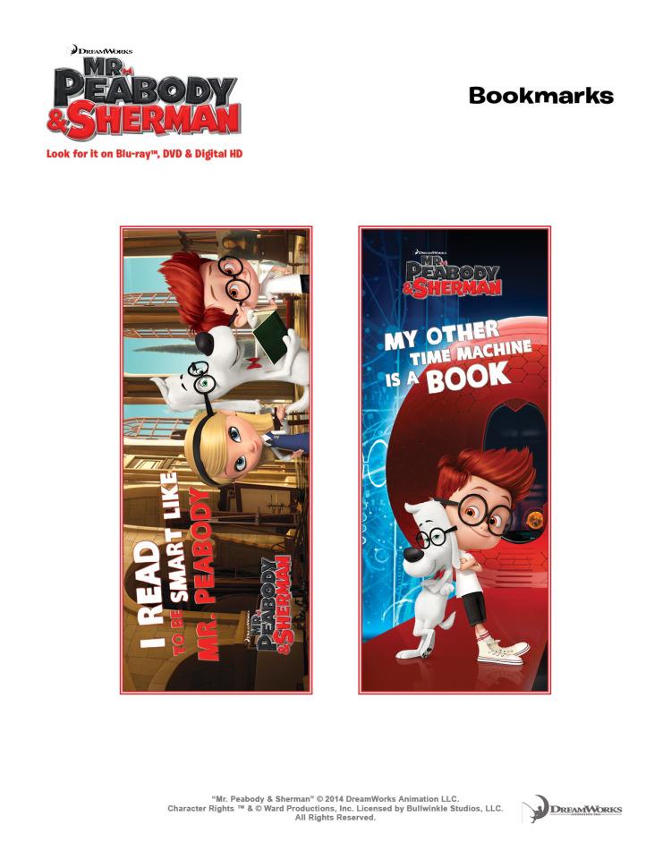 Mr Peabody bookmarks