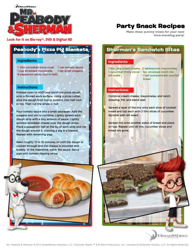 Mr Peabody party recipes