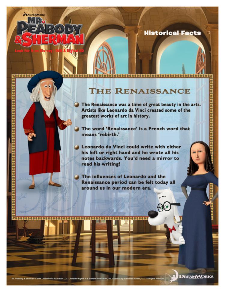 Mr Peabody party: Italian Renaissance trivia
