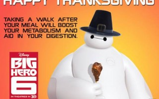 Happy Thanksgiving 2014 from Baymax!