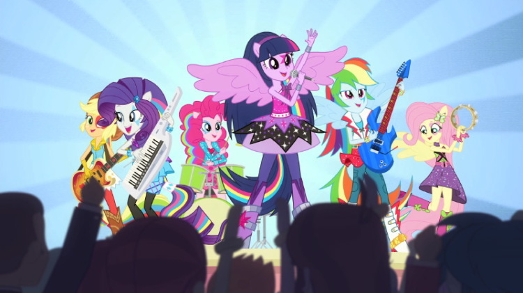 My Little Pony Equestria Girls Rainbow Rocks still with Princess Twilight Sparkle and friends
