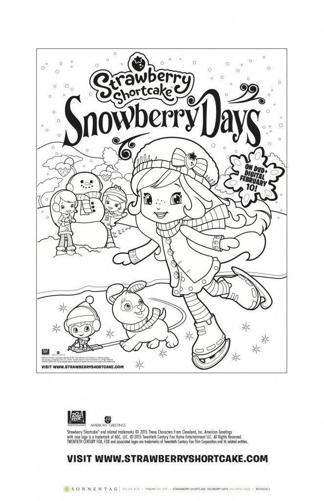 Snowberry Days Coloring Sheet