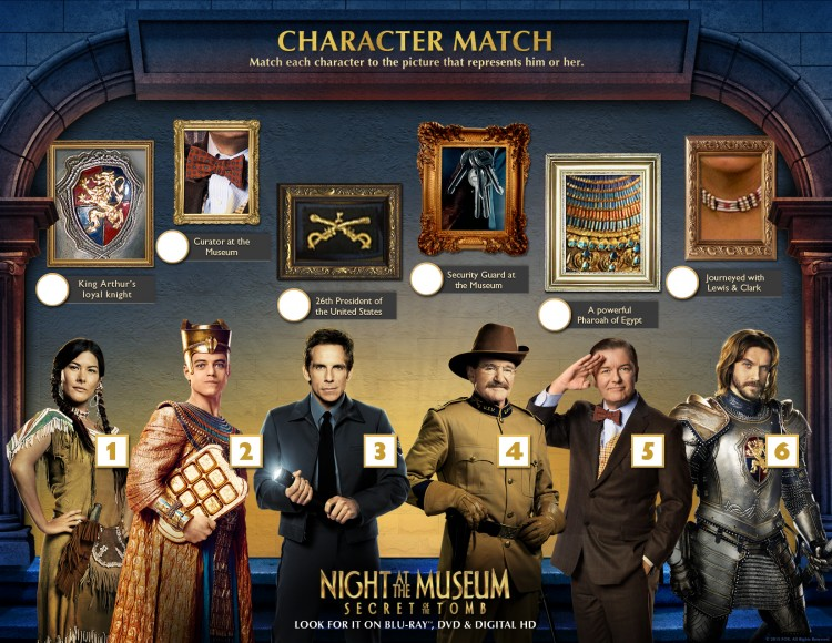 Night at the Museum 3 character match
