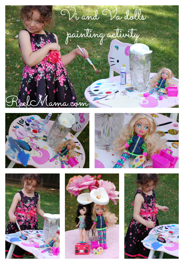 Vi and Va dolls painting activity collage