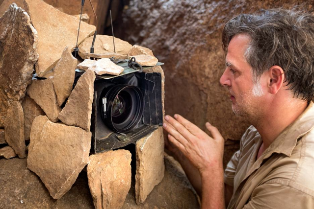 A shot is captured for Disneynature's nature documentary Monkey Kingdom