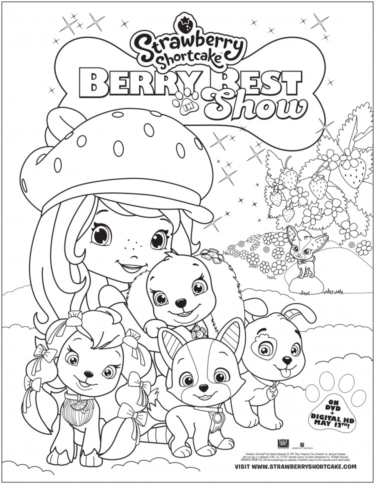 Strawberry Shortcake: Berry Best in Show Coloring Sheet