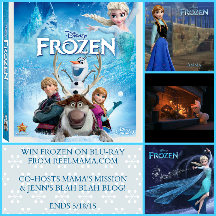 Frozen on Blu Ray Giveaway Button