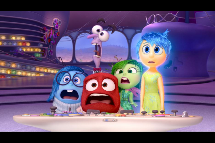 Five emotions in Inside Out movie: Joy, Sadness, Disgust, Fear, and Anger