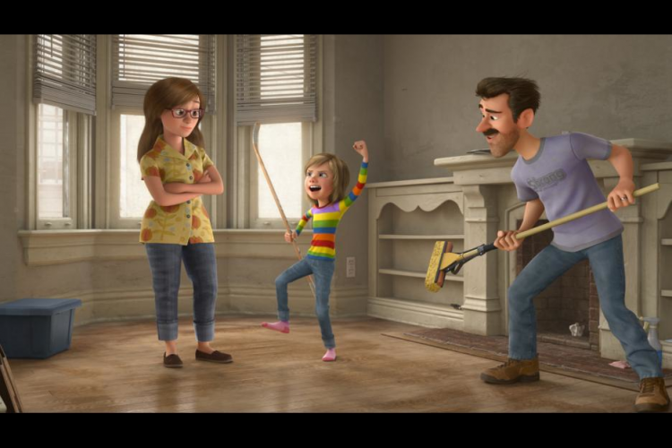 Riley's family in Inside Out movie