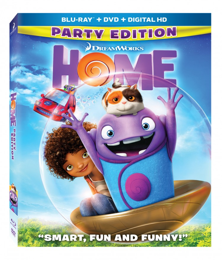 HOME on Blu-Ray featuring Jim Parsons as Oh and Rihanna as Tip