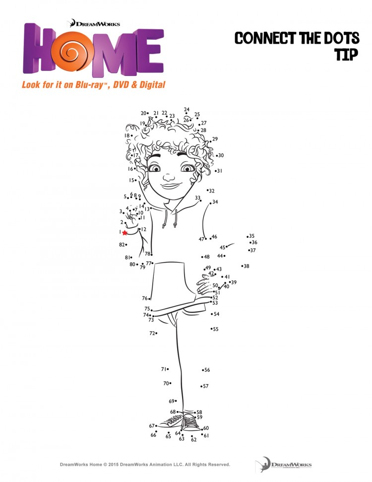 Tip connect the dots - Home activity sheets