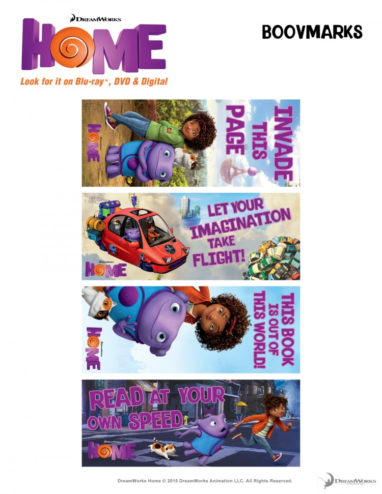 Home activity sheets bookmarks