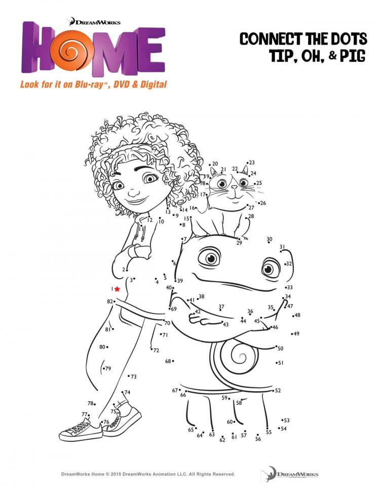 Home activity sheets - connect the dots