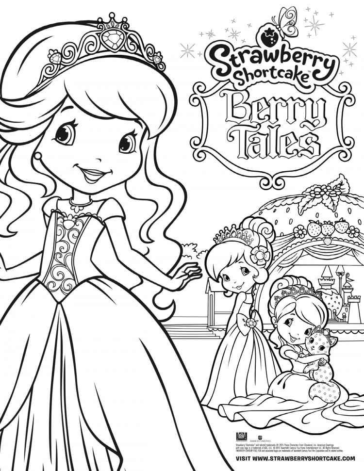 Strawberry Shortcake Berry Tales Coloring Sheet