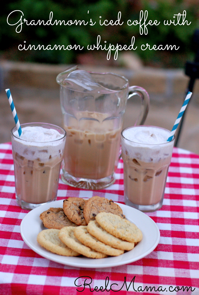 Grandmom's iced coffee recipe with cinnamon whipped cream 2