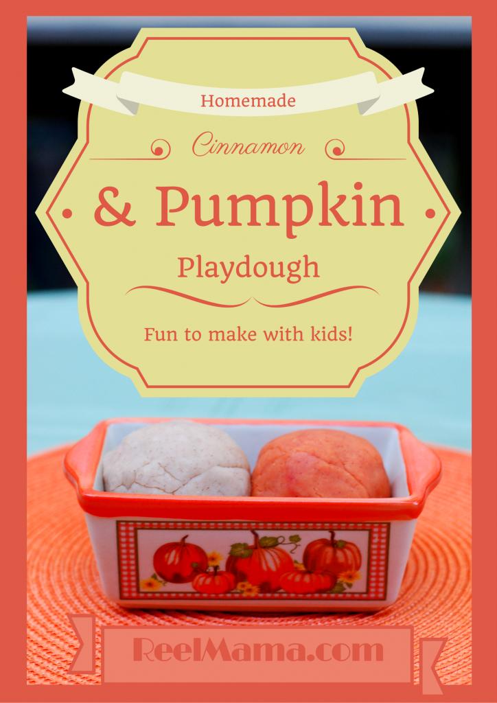 How to make pumpkin playdough and cinnamon playdough with ReelMama.com. Smells divine!
