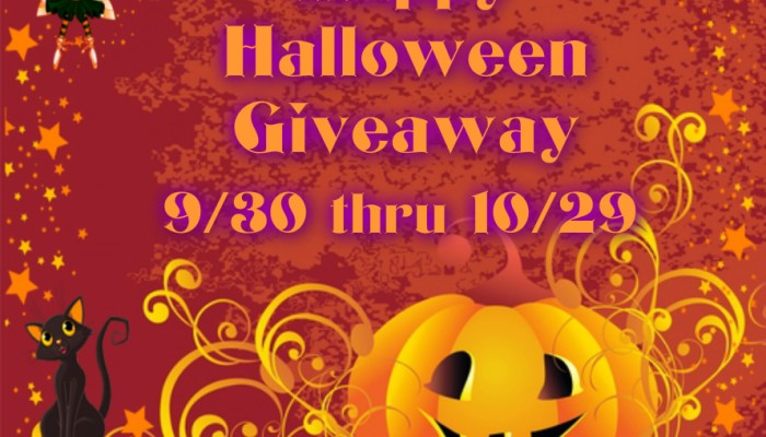 Win the Happy Halloween giveaway (5 winners!) ~ Ends 10/29/15