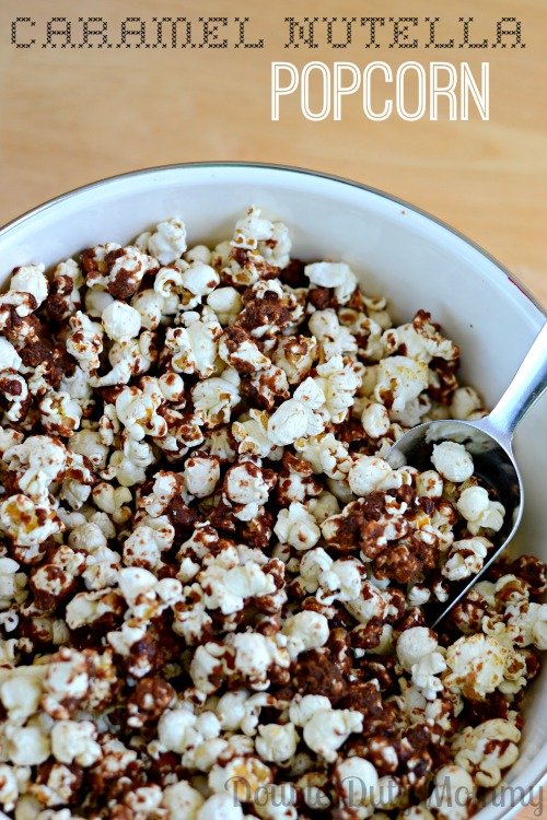 Caramel Nutella Popcorn from Double Duty Mommy