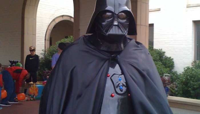 My dad is Darth Vader! ~ World's coolest dad #StarWars