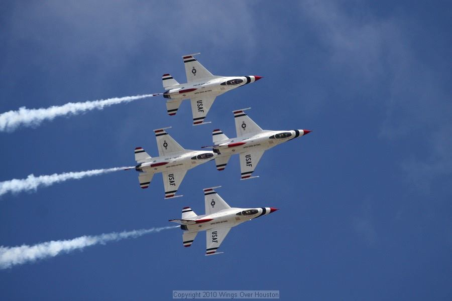 Houston Airshow jet formation ~ flying high!